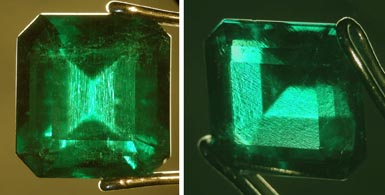Emerald photomicrograph images