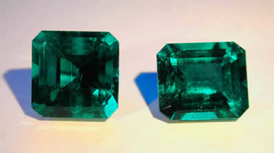 Faceted emeralds photo image